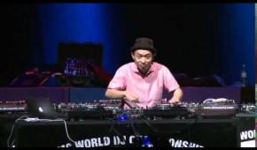 DJ Kentaro performing at The DMC World Finals 2014, London